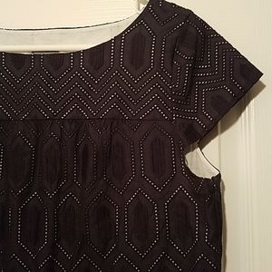 NWOT Ann Taylor Black Eyelet Shift dress